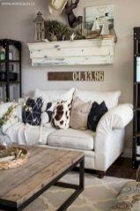 Romantic rustic farmhouse living room decor ideas 04