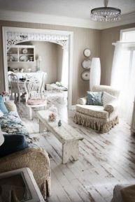 Romantic rustic farmhouse living room decor ideas 24