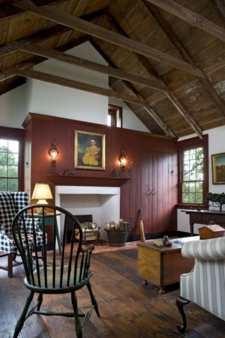 Romantic rustic farmhouse living room decor ideas 29