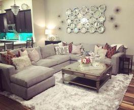 Romantic rustic farmhouse living room decor ideas 31