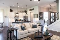 Romantic rustic farmhouse living room decor ideas 36