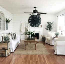 Romantic rustic farmhouse living room decor ideas 41