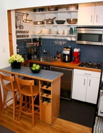 Simply apartment kitchen decorating ideas 13