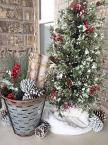 Stunning diy front porch christmas tree ideas on a budget 04