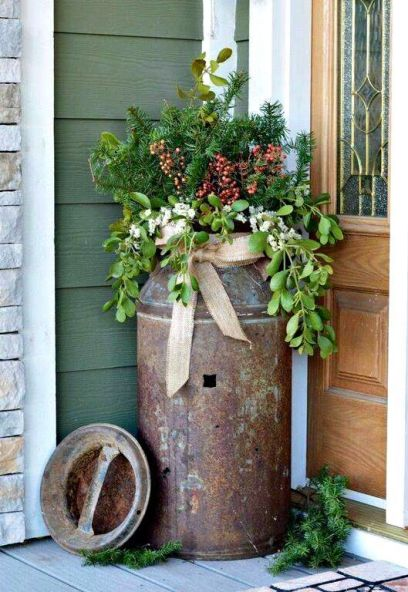 Stunning diy front porch christmas tree ideas on a budget 32