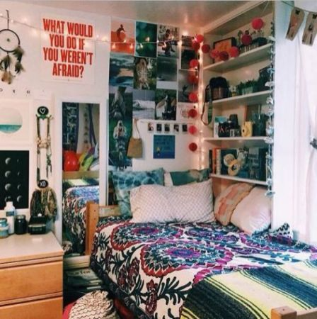 Stylish cool dorm rooms style decor ideas 02