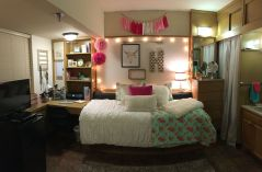 Stylish cool dorm rooms style decor ideas 16