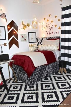 Stylish cool dorm rooms style decor ideas 24