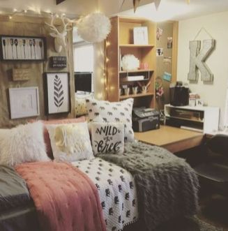 Stylish cool dorm rooms style decor ideas 30