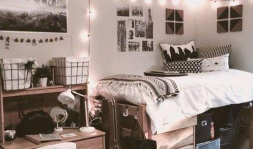 Stylish cool dorm rooms style decor ideas 31