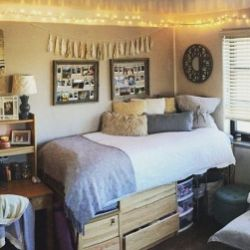 Stylish cool dorm rooms style decor ideas 37