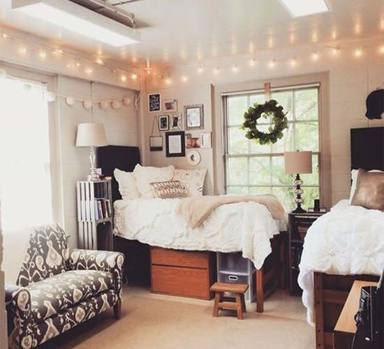 Stylish cool dorm rooms style decor ideas 47