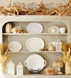 Unique diy farmhouse thanksgiving decorations ideas 35