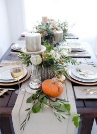 Unique diy farmhouse thanksgiving decorations ideas 45