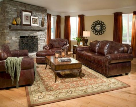 Amazing living room paint ideas by brown furniture 13