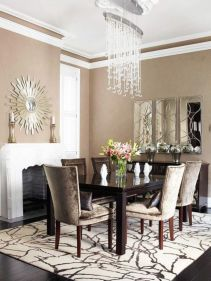 Amazing living room paint ideas by brown furniture 15