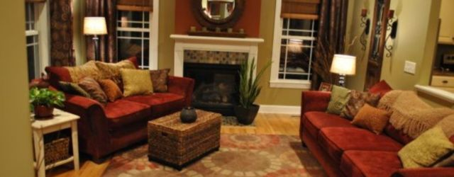 Amazing living room paint ideas by brown furniture 27