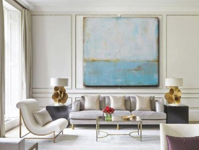 Amazing living room paint ideas by brown furniture 33