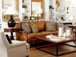 Amazing living room paint ideas by brown furniture 44