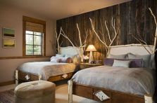 Awesome wooden panel walls bedroom ideas 21