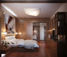 Awesome wooden panel walls bedroom ideas 24
