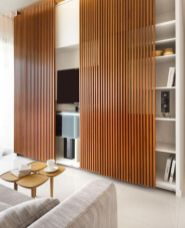 Awesome wooden panel walls bedroom ideas 37