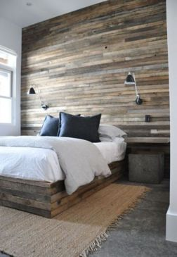 Awesome wooden panel walls bedroom ideas 39