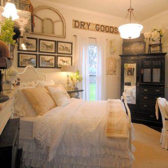 Casual vintage farmhouse bedroom ideas 08