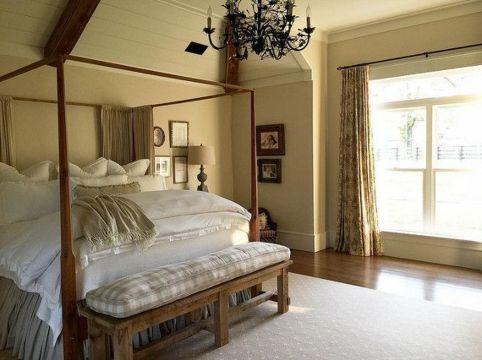 Casual vintage farmhouse bedroom ideas 19