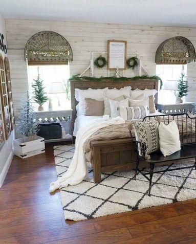 Casual vintage farmhouse bedroom ideas 21