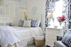 Casual vintage farmhouse bedroom ideas 23