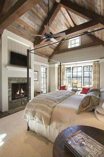 Casual vintage farmhouse bedroom ideas 34
