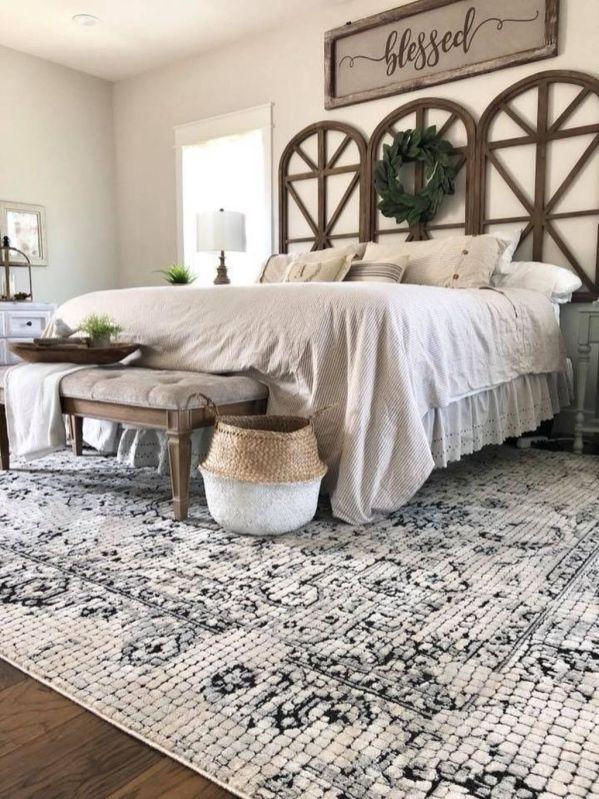 Casual vintage farmhouse bedroom ideas 42