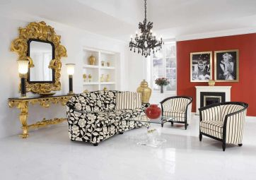 Fascinating striped walls living room designs ideas 20