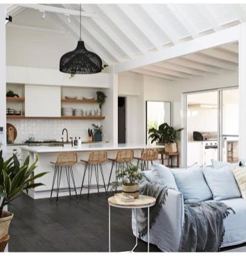 Fascinating striped walls living room designs ideas 28