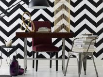 Fascinating striped walls living room designs ideas 30