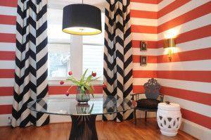 Fascinating striped walls living room designs ideas 35