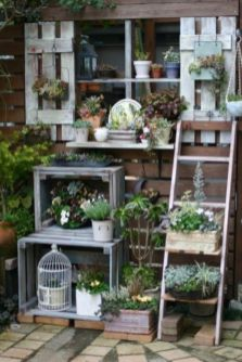 Inspiring outdoor garden wall mirrors ideas 05