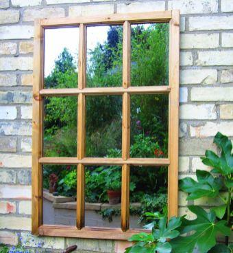 Inspiring outdoor garden wall mirrors ideas 17