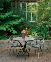 Inspiring outdoor garden wall mirrors ideas 21