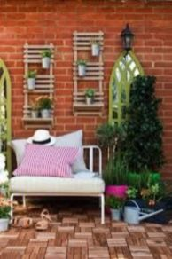 Inspiring outdoor garden wall mirrors ideas 22