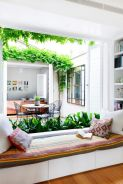 Inspiring outdoor garden wall mirrors ideas 29