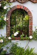Inspiring outdoor garden wall mirrors ideas 31