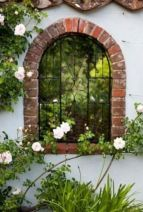 Inspiring outdoor garden wall mirrors ideas 31