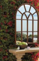 Inspiring outdoor garden wall mirrors ideas 34