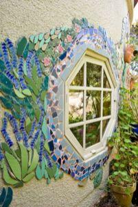 Inspiring outdoor garden wall mirrors ideas 38