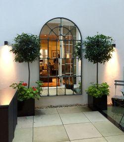 Inspiring outdoor garden wall mirrors ideas 43