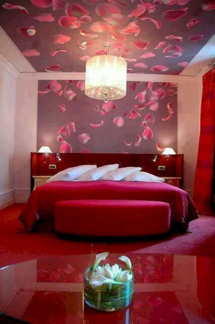 Inspiring valentine bedroom decor ideas for couples 45