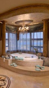 Luxurious bathroom designs ideas that exude luxury 33