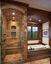 Luxurious bathroom designs ideas that exude luxury 35